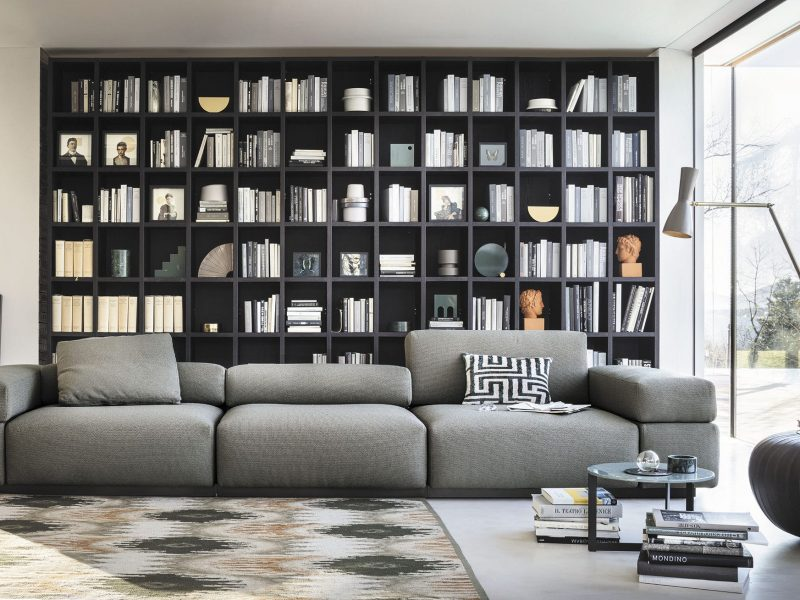 Modular sofa / contemporary / fabric / contract